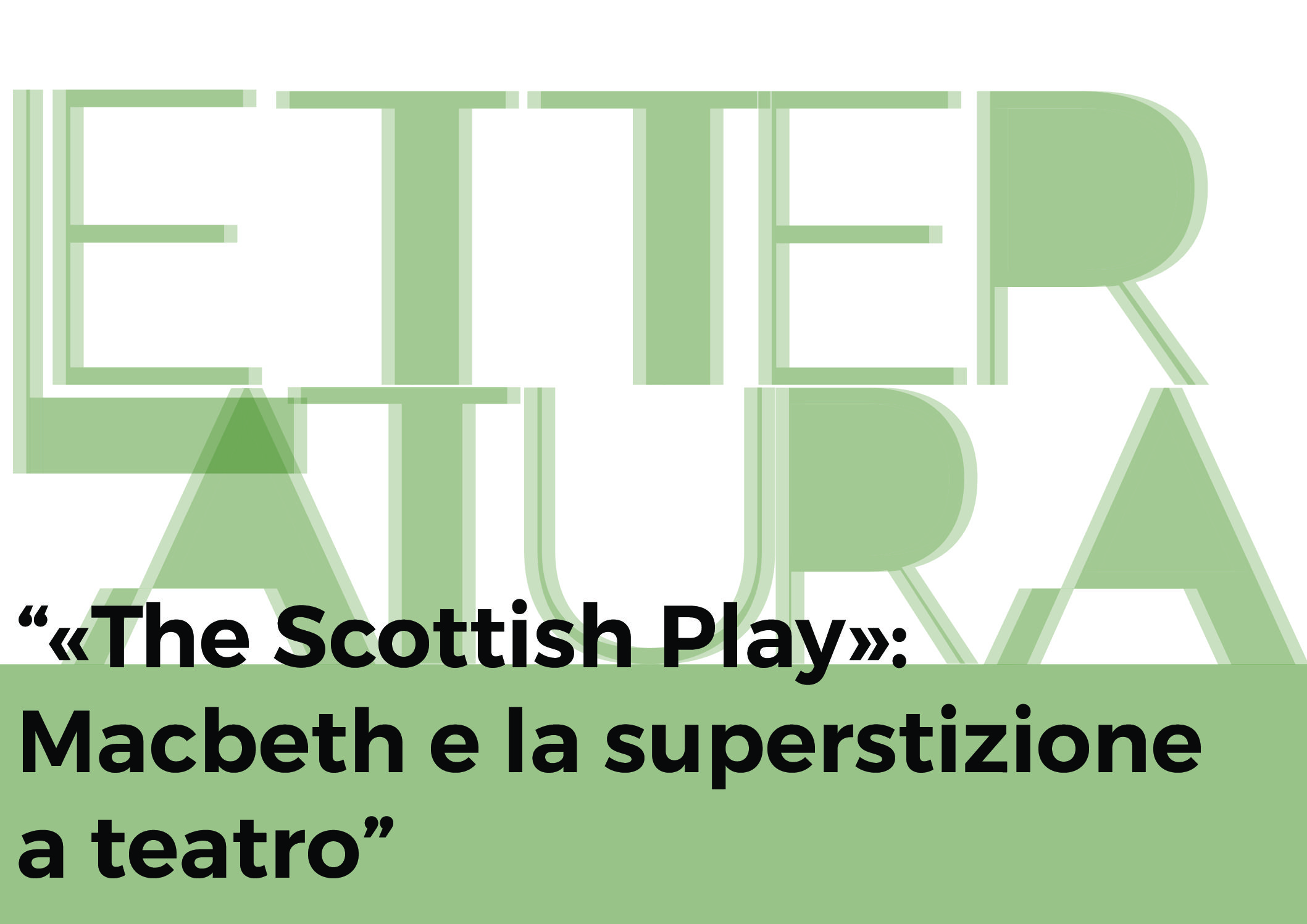 The Scottish Play – immagine
