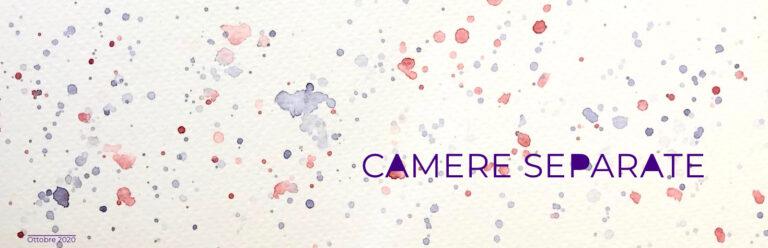"""Acquerello per copertina ottobre 2020, tema """"Camere separate"""""""